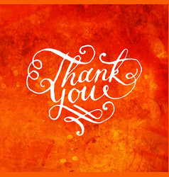 Rustic Thank You Card vector image