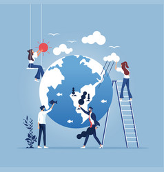 save planet-environment protection concept vector image