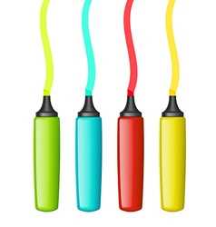 Set of multicolored markers vector
