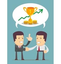 Successful partnership vector