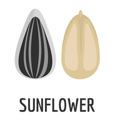 Sunflower seed icon flat style vector