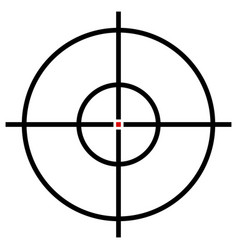 Target symbol isolated on white accuracy target vector