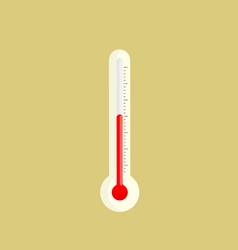 thermometer icon isolated vector image