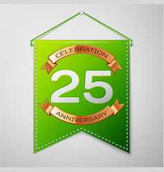 twenty five years anniversary celebration design vector image
