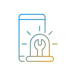 Urgent phone repairs gradient linear icon vector