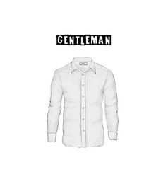 vintage mens shirt in front views isolated on vector image