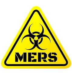 Warning sign mers virus vector