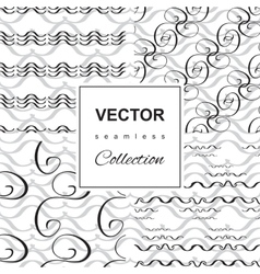 Wave icon pattern set vector