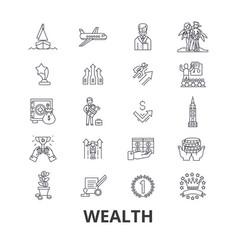 Wealth banking money rich luxury success vector