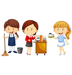 Women doing different kinds of jobs vector
