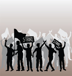 Workers strike vector image
