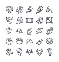Zodiac Signs Icons 1 vector image