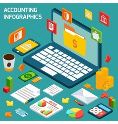 Accounting infographics set vector image vector image