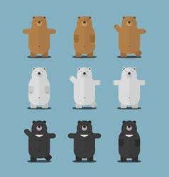 cute big brown polar asian black bear flat design vector image vector image