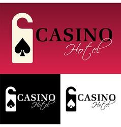 Hotel casino logo vector image