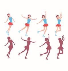 ladies figure skating vector image vector image