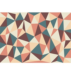 Soft Retro Triangles Background vector image