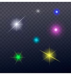 Stars and sparkles - collection of design elements vector image vector image