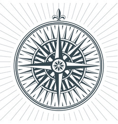 vintage old antique wind rose nautical compass vector image