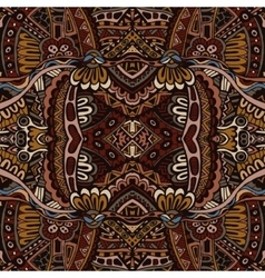 Abstract vintage grunge ethnic tribal design vector image