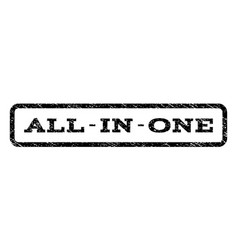 all-in-one watermark stamp vector image vector image