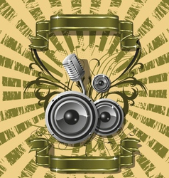 background music vector image vector image