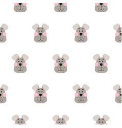 cute dog seamless pattern cartoon design vector image