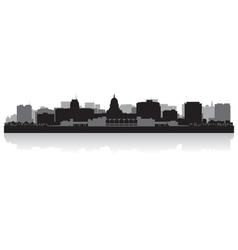 Madison USA city skyline silhouette vector image