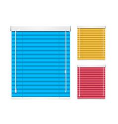 realistic color window jalousie roller shutters vector image vector image