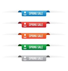 Spring sale paper tag labels vector image vector image
