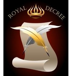 The Royal Decree vector image vector image