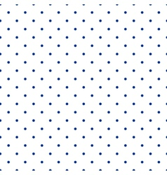 Tile pattern blue polka dots on white background vector image vector image
