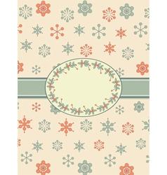 vintage christmas background border vector image