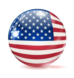 Flag of the United States in the form of ball vector image vector image