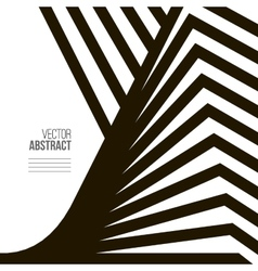 Geometric Black and White Background Architecture vector image