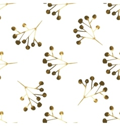 Golden seamless pattern with the image of berries vector image vector image