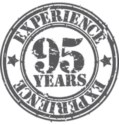Grunge 95 years of experience rubber stamp vector image vector image