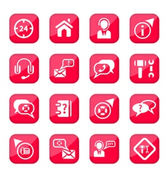 help and support icons vector image