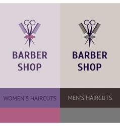 heraldic logo for a hairdressing salon Business vector image vector image