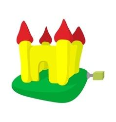 Inflatable trampoline castle cartoon icon vector image