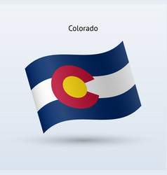 State of colorado flag waving form vector