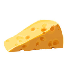 swiss cheese piece with large holes vector image