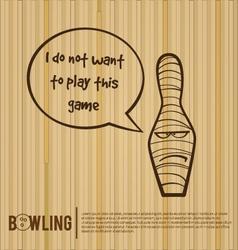Bowling injury cartoon bowling bowling alley vector image
