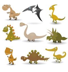 Dinosaurs set vector