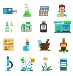 Pharmacy Icons Set vector image