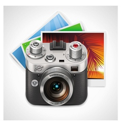 retro camera xxl icon vector image vector image