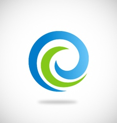swirl round abstract ecology logo vector image