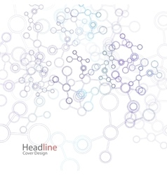 abstract background with molecule structure vector image