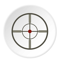 Aim icon circle vector