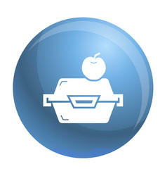 apple fruit lunchbox icon simple style vector image
